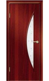 Премиум ДО-06-Луна ФЬЮЗИНГ (итальянский орех) межкомнатная дверь (Витрина)
