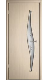 Премиум ДО-23-Волна ФЬЮЗИНГ (беленый дуб) межкомнатная дверь (Витрина)