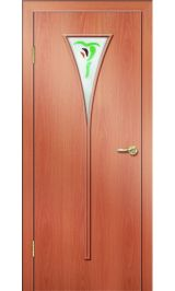 Премиум ДО-04 ФЬЮЗИНГ (миланский орех) межкомнатная дверь (Витрина)
