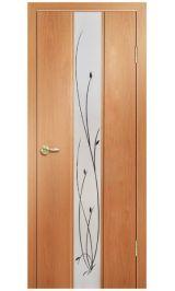 Стиль-3 зеркало (миланский орех) межкомнатная дверь