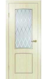 Премиум ДО-108 РОМБ (беленый дуб) межкомнатная дверь (Витрина)