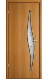 Премиум ДО-23-Волна ФЬЮЗИНГ (миланский орех) межкомнатная дверь