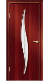 Премиум ДО-23-Волна ФЬЮЗИНГ (итальянский орех) межкомнатная дверь