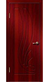 Риф ДГ (итальянский орех) ПВХ Премиум межкомнатная дверь