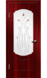 Кэрол ДО (итальянский орех) ПВХ Премиум межкомнатная дверь (Остатки)
