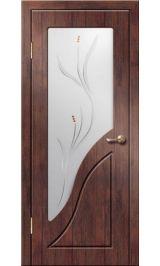 Жасмин ДО (тик) ПВХ Премиум межкомнатная дверь (Витрина)