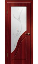Жасмин ДО (итальянский орех) ПВХ Премиум межкомнатная дверь (Витрина)