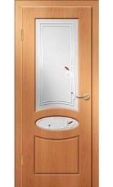 Алина ДО (миланский орех) ПВХ Премиум межкомнатная дверь (Витрина)
