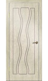 Каскад ДГ (седой дуб) ПВХ Премиум межкомнатная дверь