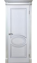 Элен ДГ (белый ясень/филадельфия) двусторонняя ПВХ Серия Шервуд межкомнатная дверь (Распродажа)