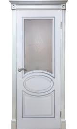 Элен ДО (белый ясень) ПВХ Серия Шервуд межкомнатная дверь (Распродажа)