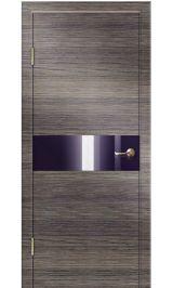 ДО-501 Ольха/черн стекло межкомнатная дверь