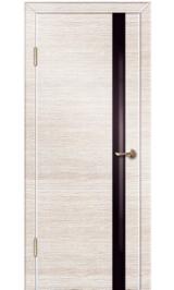 До-514 бел дуб/черн стекло межкомнатная дверь (Остатки)