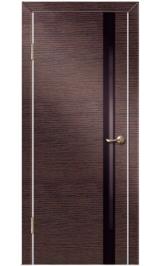 До-514 венге/черн стекло межкомнатная дверь (Остатки)