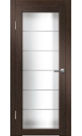 Интери ДО (венге вертикальный) матовое стекло межкомнатная дверь распродажа 800 мм витрина