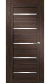 Грация-1 ДО (венге вертикальный) матовое стекло межкомнатная дверь