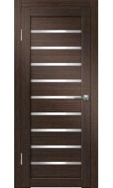 Грация-2 ДО (венге вертикальный) белое стекло межкомнатная дверь