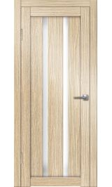 Палермо-6 (лиственница) белое стекло межкомнатная дверь