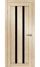 Палермо-6 (лиственница) черное стекло межкомнатная дверь