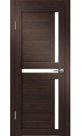 Палермо-1 (венге вертикальный) матовое стекло межкомнатная дверь