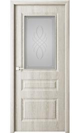 Лео беленый дуб стекло матовое межкомнатная дверь