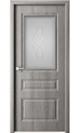 Лео дуб филадельфия грей матовое стекло межкомнатная дверь