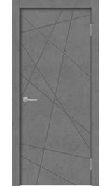 Geo-1 Бетон графит глухая межкомнатная дверь