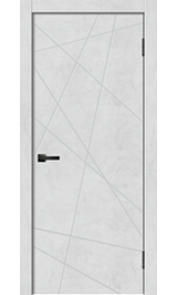 Geo-1 Бетон снежный глухая межкомнатная дверь