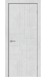 Geo-3 Бетон снежный глухая межкомнатная дверь