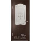 GLSigma-32 ДО худ.матирование (венге) межкомнатная дверь