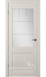 Greenline GLAtum С6 (беленый дуб) стекло матовое межкомнатная дверь