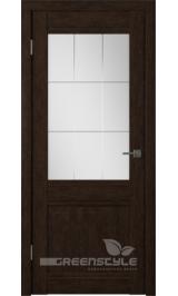 Greenline GLAtum С6 (венге) стекло матовое межкомнатная дверь
