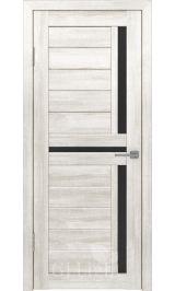 GLAtum X16 Greenline (белый ясень) стекло черное межкомнатная дверь