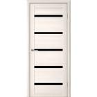 GLAtum X7 Greenline (белый ясень) черное стекло межкомнатная дверь
