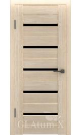 GLAtum X7 Greenline (капучино) черное стекло межкомнатная дверь