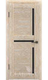 GLAtum X16 Greenline (капучино) стекло черное межкомнатная дверь