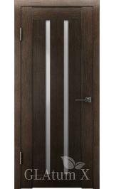 GLAtum X2 Greenline  (дуб серый) межкомнатная дверь