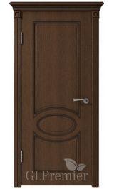 GLPremier 11 дуб коньяк, патина черная межкомнатная дверь