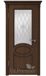 GLPremier 12 дуб коньяк/слоновая кость двусторонняя, патина черная межкомнатная дверь (Распродажа)