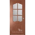 GLSigma-32 ДО (итальянский орех) решетка матовое стекло межкомнатная дверь