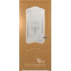 GLSigma-32 ДО худ.матирование (миланский орех) межкомнатная дверь