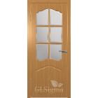 GLSigma-32 ДО (миланский орех) решетка матовое стекло межкомнатная дверь
