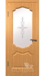 GLSigma-92 ДО худ.матирование (миланский орех) межкомнатная дверь