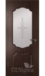 GLSigma-92 ДО худ.матирование (венге) межкомнатная дверь
