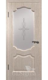 GLSigma-92 ДО худ.матирование (беленый дуб) межкомнатная дверь