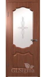 GLSigma-92 ДО худ.матирование (итальянский орех) межкомнатная дверь