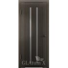 Greenline GLAtum X2 (серый дуб) стекло белый сатинат межкомнатная дверь