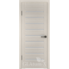 Greenline GLAtum X3 (беленый дуб) стекло белый сатинат межкомнатная дверь