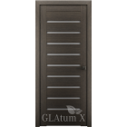 Greenline GLAtum X3 (серый дуб) стекло белый сатинат межкомнатная дверь