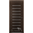 Greenline GLAtum X3 (венге) стекло белый сатинат межкомнатная дверь